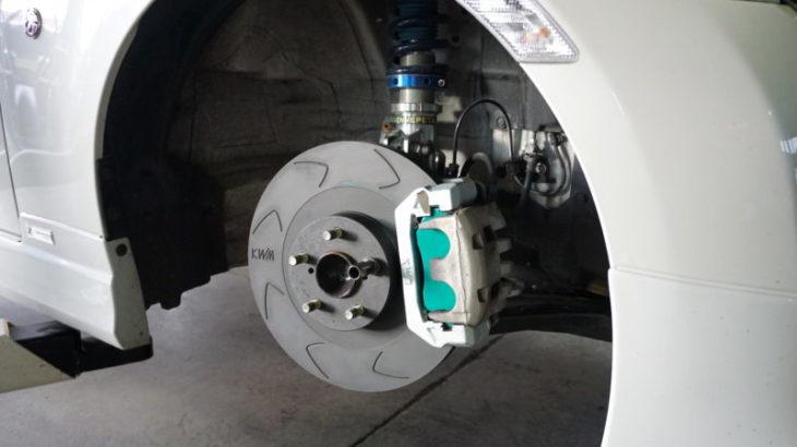 デモカー86、軽量化完了&KWM製ブレーキインチアップキット装着!