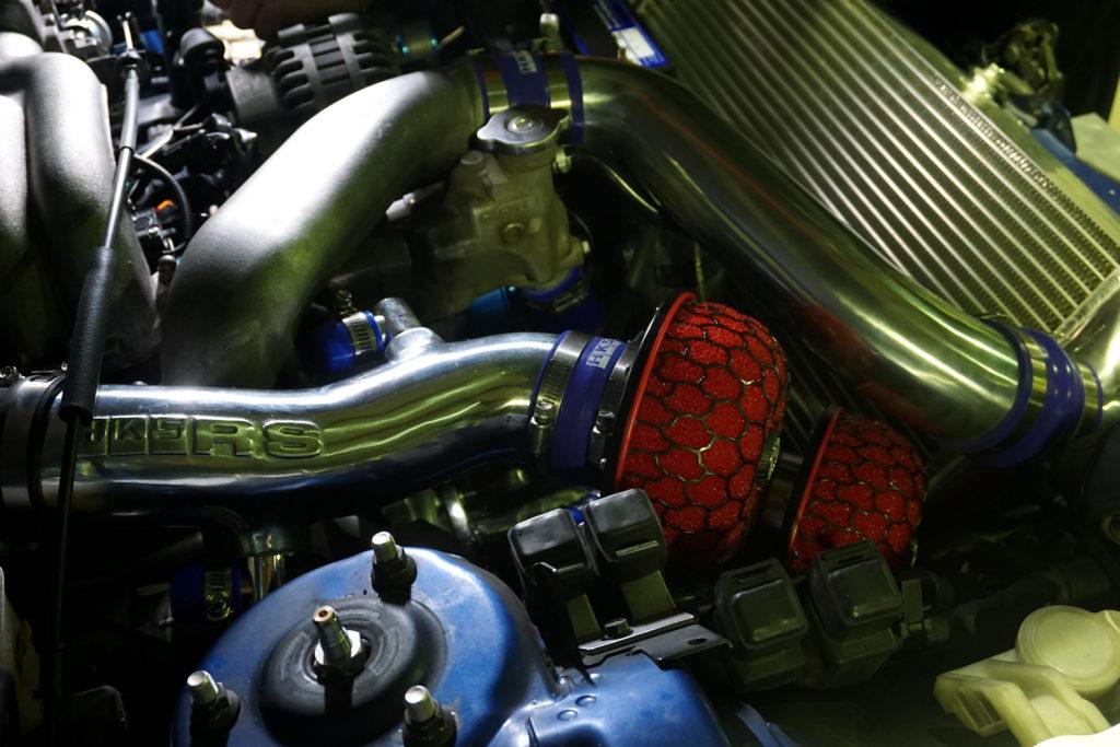 ロータリーエンジンのオーバーホールを終えたFD3S RX-7